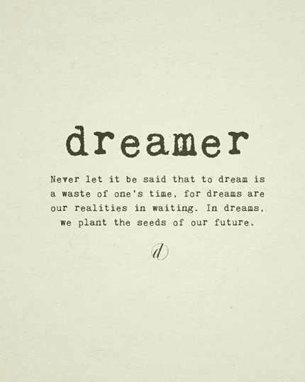 Dream on...