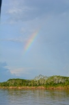 A rainbow as we left Yurimaguas