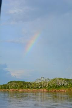 A rainbow as we left Yurimaguas