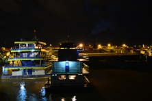 At Iquitos harbour but we can't park!