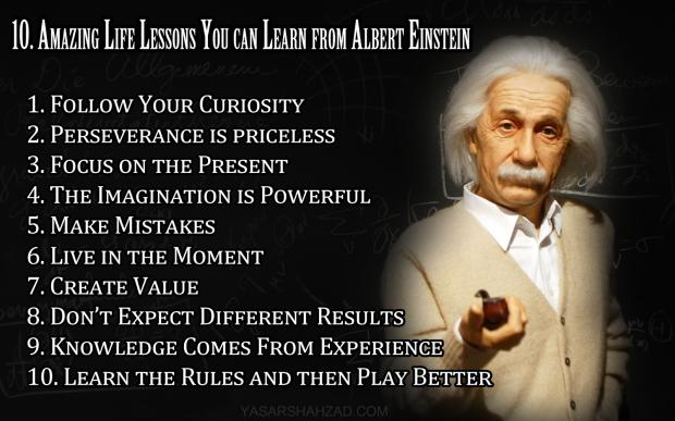 10AmazingLifelessons-Einstein