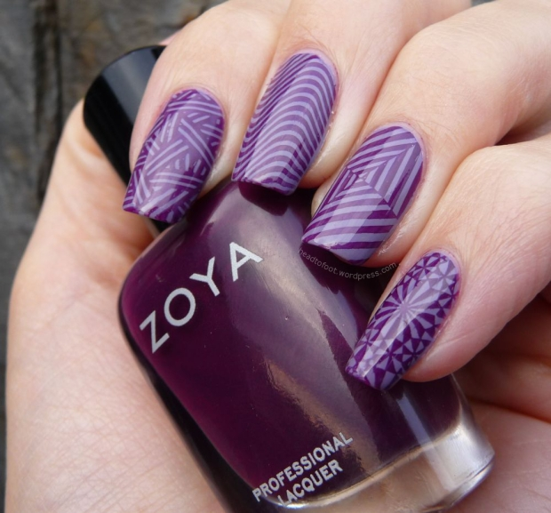 Stamping B loves plates Zoya Lael OPI Planks a lot
