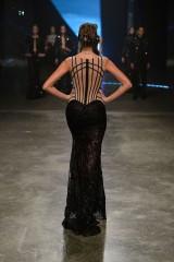 DUBAI, UNITED ARAB EMIRATES - OCTOBER 22: A model walks the runway at the Michael Cinco show during Dubai Fashion Forward Spring/Summer 2016 at Madinat Jumeirah on October 22, 2015 in Dubai, United Arab Emirates. (Photo by Pascal Le Segretain/Getty Images for Fashion Forward)