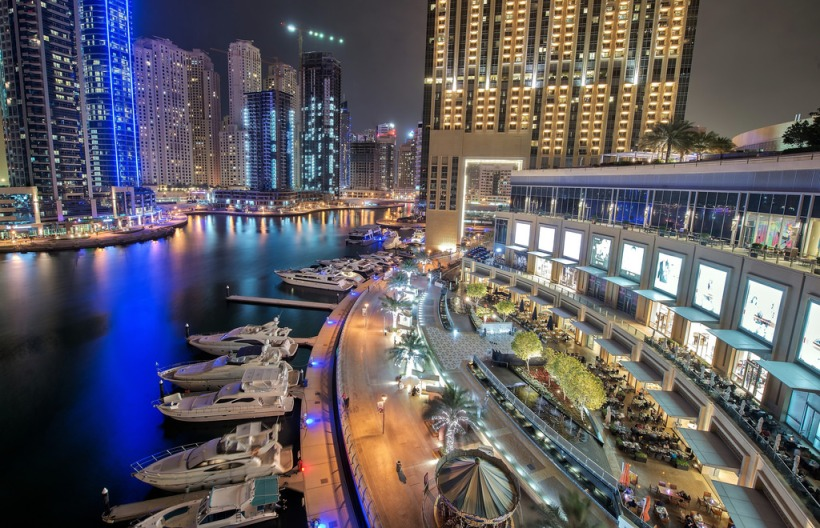 Dubai marina, view from pier 7
