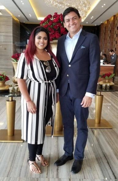 Zohra Bandali and Pedro Beirute